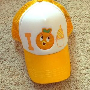 Orange bird trucker hat